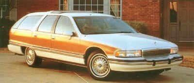 The 1991 Roadmaster Estate Wagon cost $21,445 and weighed 4,415 pounds.