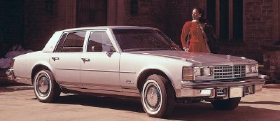 The 1975 Cadillac Seville was much smaller -- and costlier -- than any other model in the lineup.