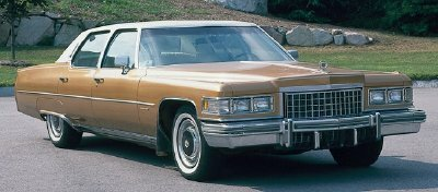 Cadillac's 1976 offerings sold well. Pictured here is the 1976 Cadillac Fleetwood sedan.