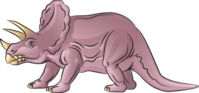 Learn how to draw this Triceratops dinosaur.