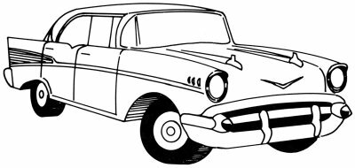 Learn to draw this 1957 Chevy.