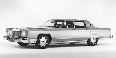 Throughout the 70s, Lincoln reverted to its longer-lower-wider formula, as evidenced by the 1975 Lincoln Town Car.