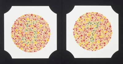 Color blindness test plates