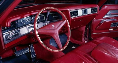 All of Cadillac's models were completely redesigned for 1971. The interior of the 1971 Cadillac Coupe DeVille is shown here.