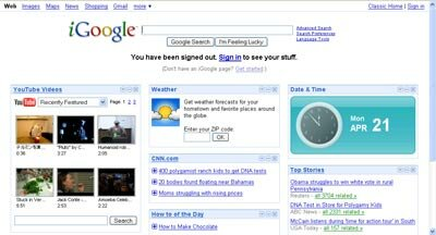 Portals like iGoogle aren't true operating systems, but they do pull information from other Web pages into a centralized site.
