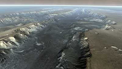 The vast Valles Marineris is a giant system of canyons on Mars and one of the many surface features scientists want to study first-hand.