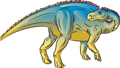 Learn how to draw this Bactrosaurus dinosaur.