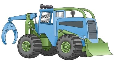 Learn to draw grapple skidders and other construction vehicles with our easy instructions.
