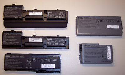 These Dell notebook batteries were part of the 2006 recall. See more battery pictures.