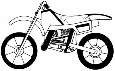 Learn how to draw this motorcycle.