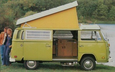 The 1972-1979 Volkswagen Buses averaged around 70 horsepower, not enough to keep them from feeling slow. That was especially true with heavier versions, such as this 1979 Campmobile model.