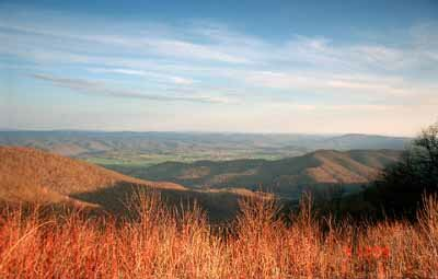 The views along West Virginia's Highland Scenic Highway include mountains, waterfalls, fields of wildflowers, and forests.