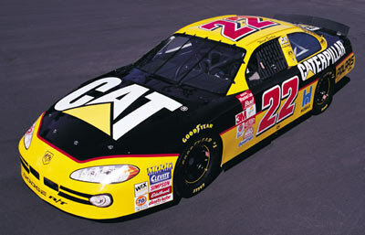 The Caterpillar-sponsored No. 22 car. See more NASCAR pictures.