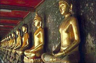 Images of the Buddha are common in Buddhist temples. Most sects believe that art can bring about moments of enlightenment.