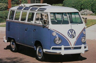This 1963 Deluxe Station Wagon model Volkswagen Bus started at $2,665. It had 50 horsepower.