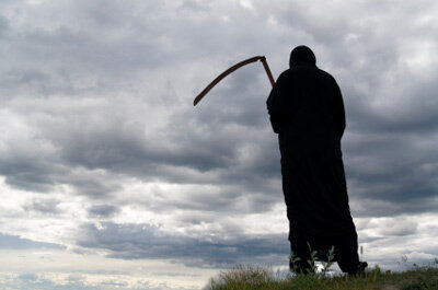 The Grim Reaper is one of the most recognizable figures around, but that doesn't mean anyone is happy to see him when he noiselessly appears.