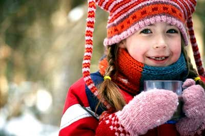 Protect yourself with proper cold weather clothing that covers the chest, head, neck and hands.