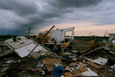 An F4 tornado can reduce a house to rubble in an instant.