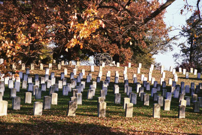 The cemetery at Gettysburg National Military Park
