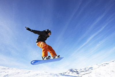 This boy is catching some air in Sun Valley, Idaho.