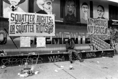 "Politics were at the fore of the ""Battle for 13th Street"" in New York. Hundreds of squatters had inhabited government-owned buildings for 12 years, but were forcibly removed by police in 1995."