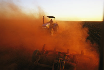 Poor agricultural habits can lead to dust and desertification. See more water pictures.