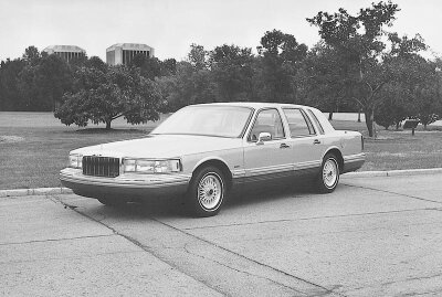 """The 1992 Lincoln Town Car was """"fully redesigned,"""" yet Town Car loyalists found it similar enough to older models that it enjoyed sales success."""
