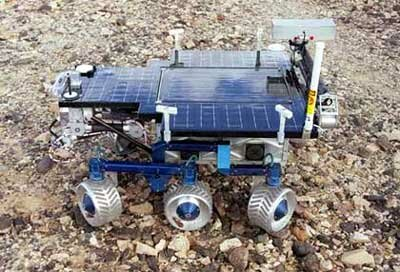 NASA's FIDO Rover is designed for exploration on Mars.