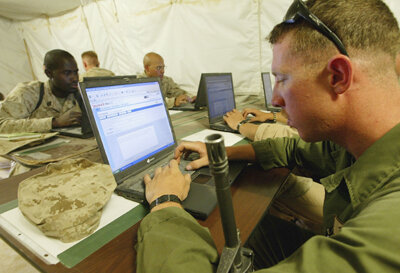 With online courses, soldiers stationed overseas can complete their coursework.