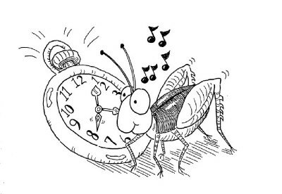 Crickets are thought of as nature's thermometers.