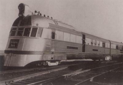 A star attraction at the Chicago Railroad Fair was Chicago, Burlington & Quincy's original Zephyr of 1934.