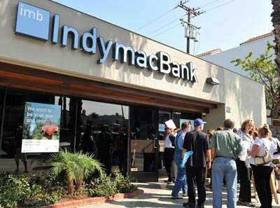Banking Pictures Customers rush to recover their deposits from Indymac Bank. These customers wouldn't need to worry had they made sure all their funds were FDIC-insured. See more banking pictures.