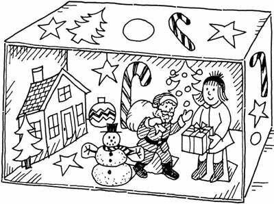 Christmas Card Panorama Christmas Craft for Kids
