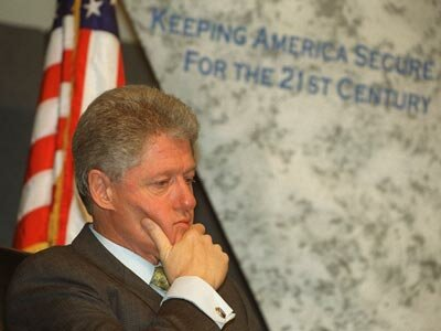 Then-U.S. President Bill Clinton spoke at a 1999 conference focusing on cyber terrorism. See more president pictures.