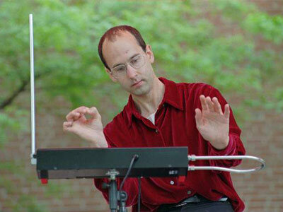Look, but don't touch: with a theremin, you play without touching the instrument.