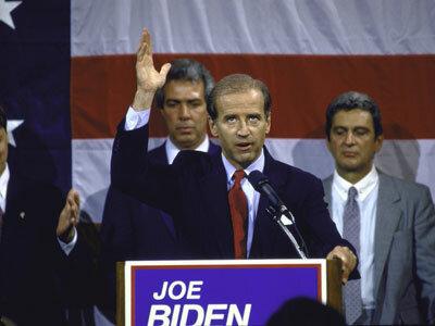 Joe Biden Image Gallery Sen. Joe Biden announces his candidacy for president in June 1987. See more pictures of Joe Biden.
