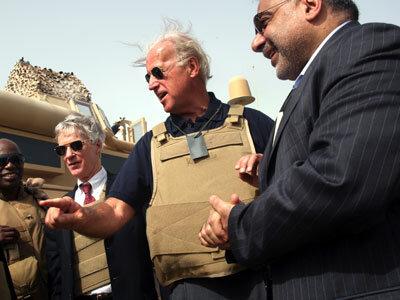 Sen. Biden during a 2007 visit to Iraq.