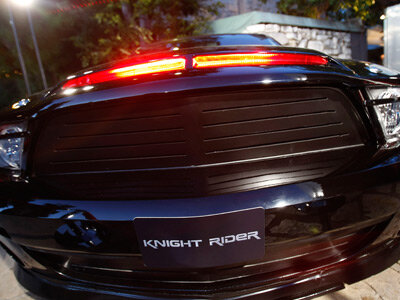 KITT at the premiere of NBC's 'Knight Rider' at the Playboy Mansion February 12, 2008, in Los Angeles, Calif. See more sports car pictures.