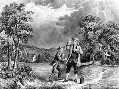 Benjamin Franklin is well-known for his electricity experiments, but he also organized a group of volunteer firemen.