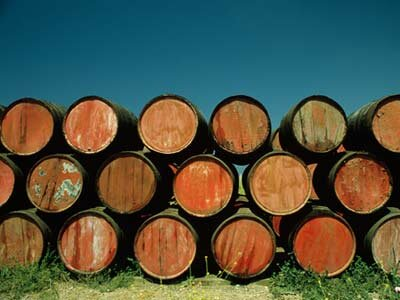 Sherry maturing in the Andalucia region of Spain. See more wine pictures.