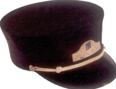 The man who wore this hat could be mistaken for no one but a railroad conductor. He was the ranking figure of authority aboard his train.