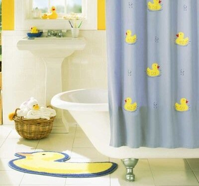 With the information in this article, you can complete stencil projects like the Rubber Duckie Shower Curtain.