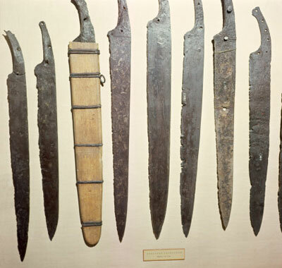 Iron blades for Viking swords