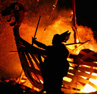 The Scottish New Year's celebration known as Hogmanay incorporates Viking imagery and traditions from the region's Norse and Gaelic roots.