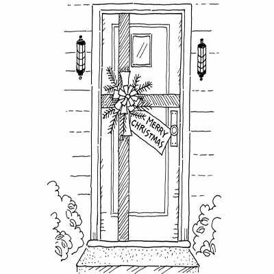 Gift-Wrapped Door Christmas Craft for Kids
