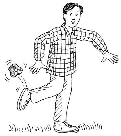 Kick-start the April Fool's Day fun with a juggling game for your feet.