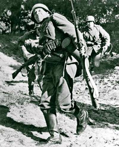 German infantrymen -- known as panzergrenadiers -- secured Nazi Germany's quick victory over Poland.