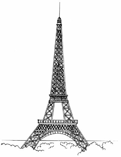 Famous Landmarks Image Gallery Learn how to draw the Eiffel Tower in a few simple steps. See more pictures of famous landmarks.