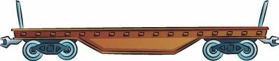 Flatcars are a necessary addition to any freight train, real or illustrated.