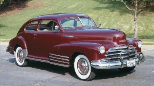 Old Print Automobile 1946 Chevrolet Fleetline Aerosedan